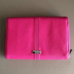 Thirty-One Tons of Funds Candy Pink Pebble wallet